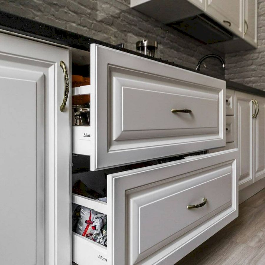 Белый кухонный гарнитур-Кухня МДФ в эмали «Модель 641»-фото7