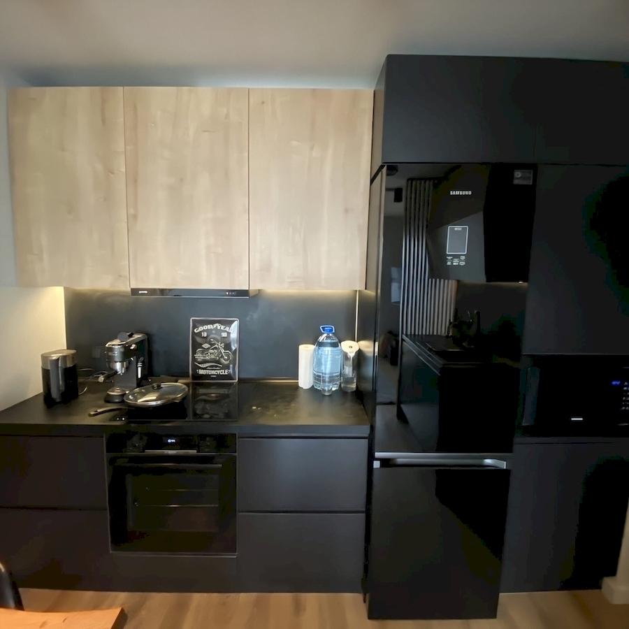 Встроенная кухня-Кухня МДФ в эмали «Модель 589»-фото3