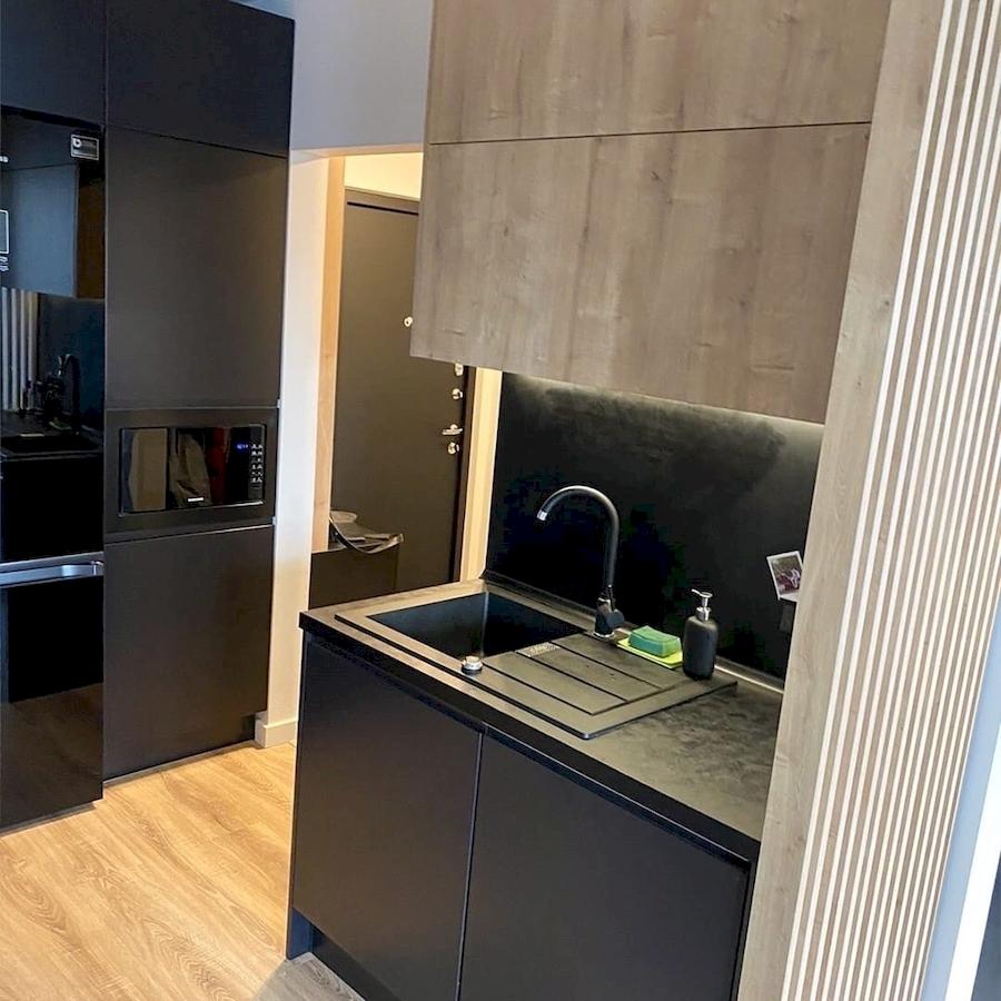 Встроенная кухня-Кухня МДФ в эмали «Модель 589»-фото4