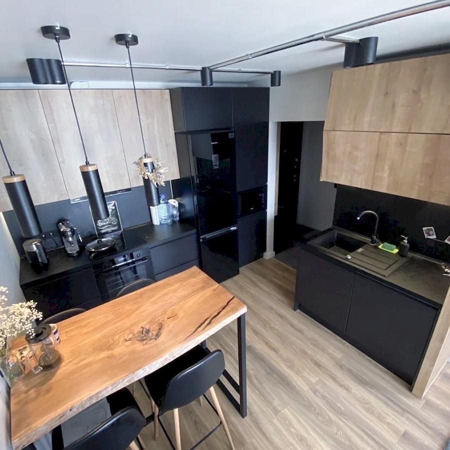 Встроенная кухня-Кухня МДФ в эмали «Модель 589»-фото1