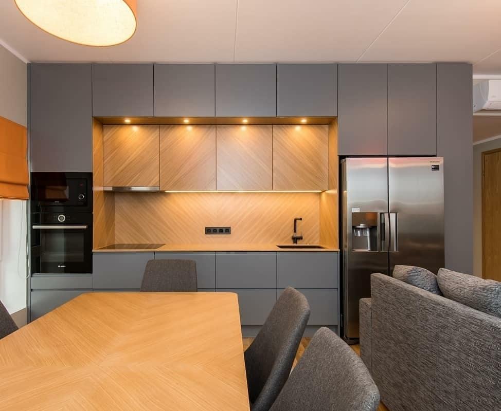 Встроенная кухня-Кухня МДФ в эмали «Модель 628»-фото1