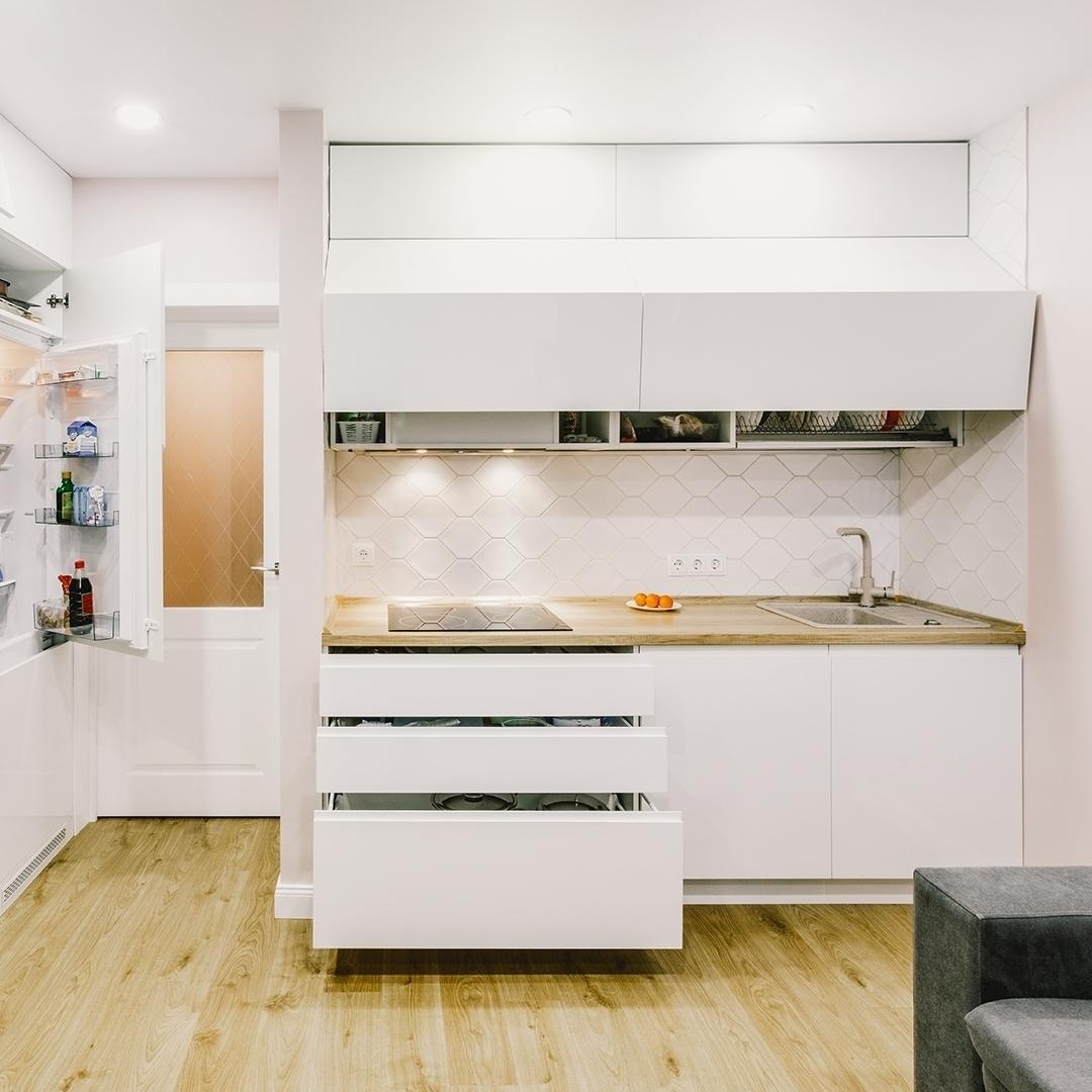 Белый кухонный гарнитур-Кухня МДФ в эмали «Модель 604»-фото2