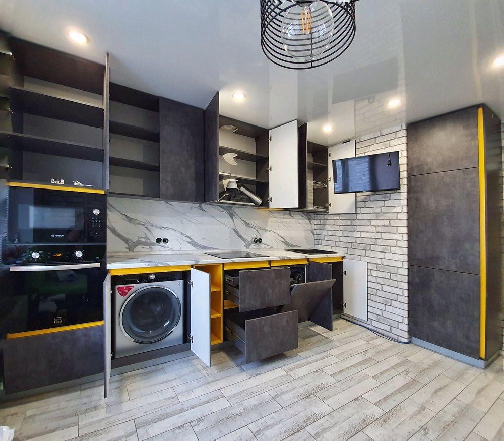 Встроенная кухня-Кухня МДФ в ПВХ «Модель 536»-фото7