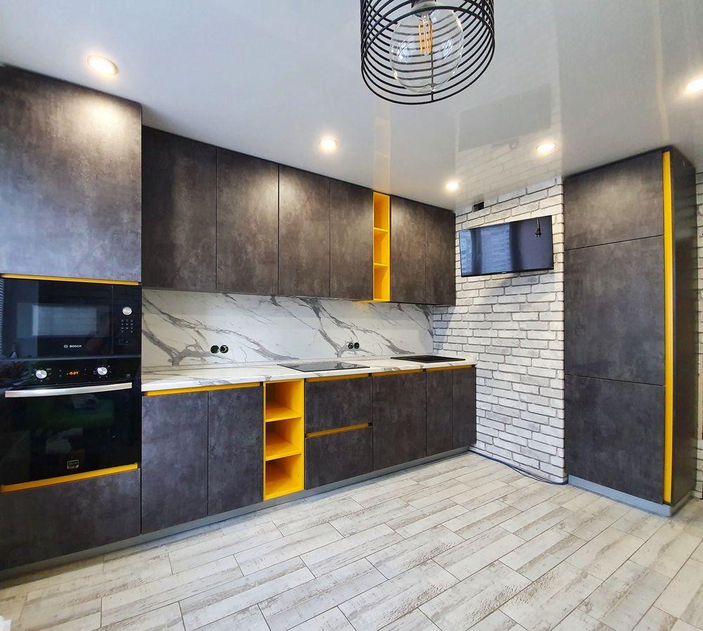 Встроенная кухня-Кухня МДФ в ПВХ «Модель 536»-фото1