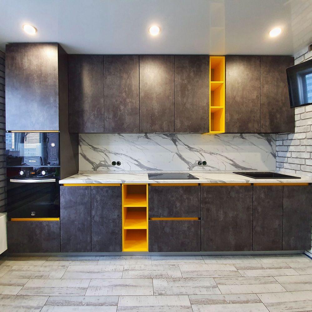 Встроенная кухня-Кухня МДФ в ПВХ «Модель 536»-фото3