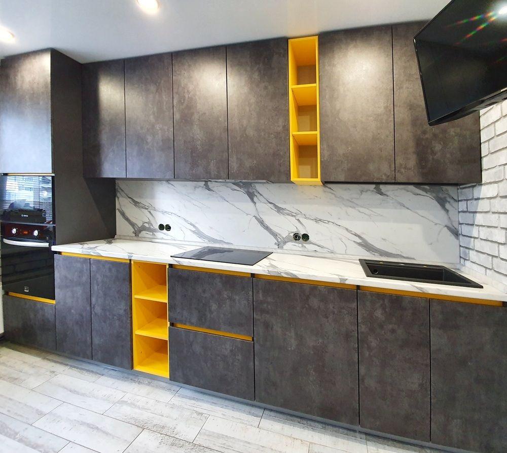 Встроенная кухня-Кухня МДФ в ПВХ «Модель 536»-фото4