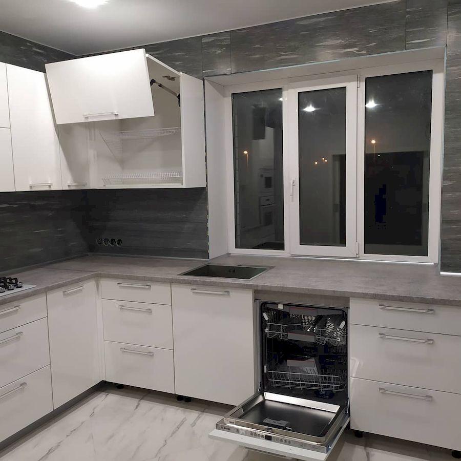 Белый кухонный гарнитур-Кухня МДФ в ПВХ «Модель 669»-фото5