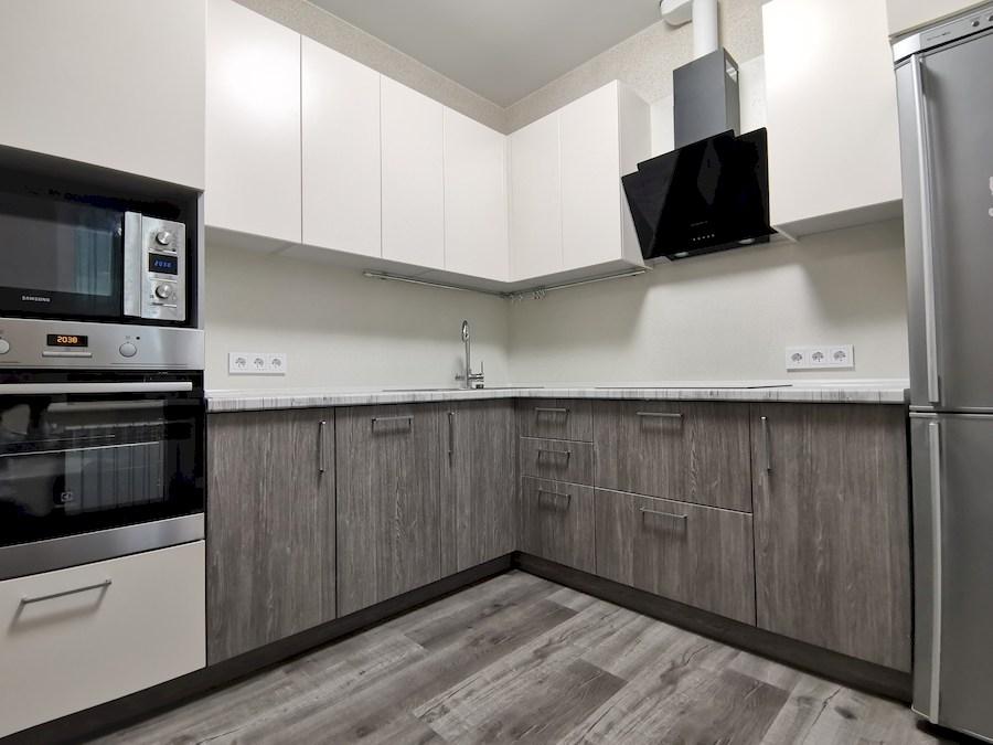 Белый кухонный гарнитур-Кухня МДФ в ПВХ «Модель 580»-фото4