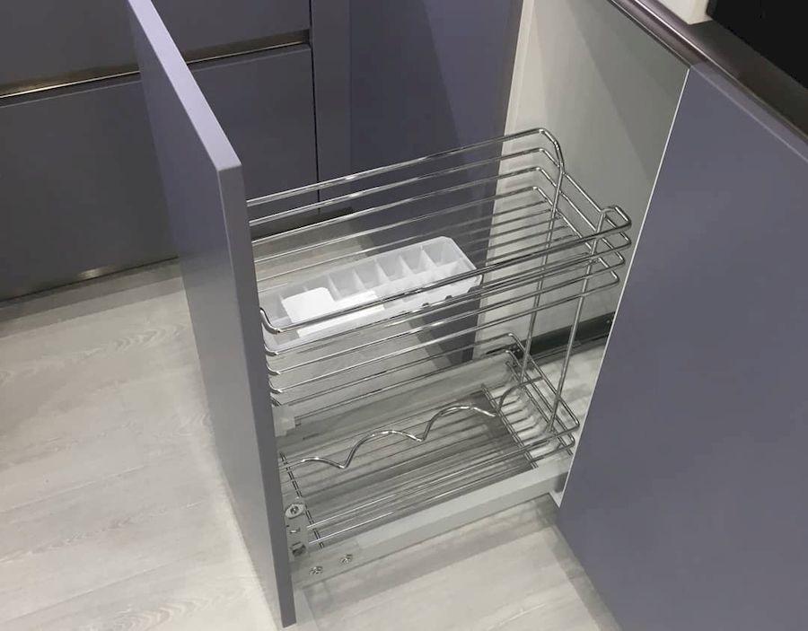 Белый кухонный гарнитур-Кухня МДФ в ПВХ «Модель 648»-фото4