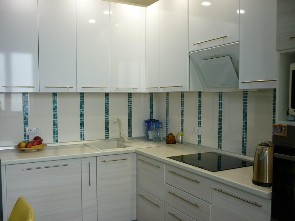 Белый кухонный гарнитур-Кухня МДФ в ПВХ «Модель 180»-фото6