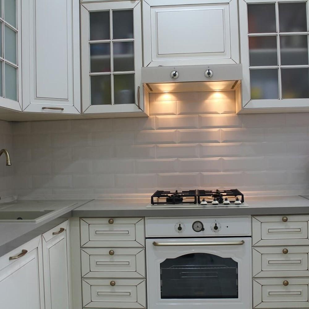 Встроенная кухня-Кухня МДФ в ПВХ «Модель 154»-фото4