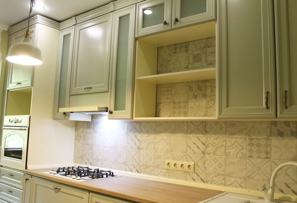 Встроенная кухня-Кухня из массива «Модель 172»-фото3