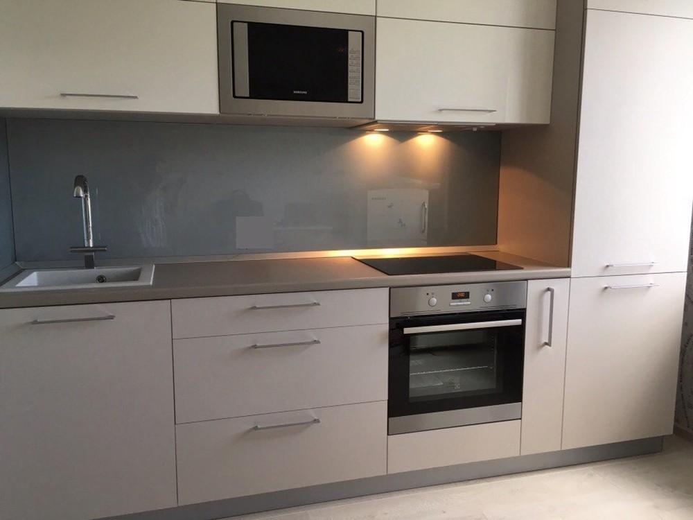 Белый кухонный гарнитур-Кухня МДФ в ПВХ «Модель 168»-фото3