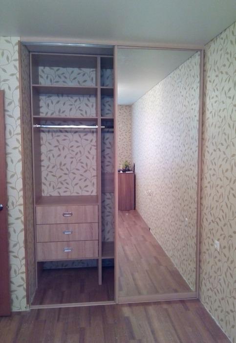 Встроенные шкафы-купе-Шкаф-купе с зеркалом «Модель 116»-фото2