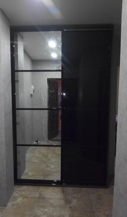 Встроенные шкафы-купе-Шкаф-купе с зеркалом «Модель 58»-фото4