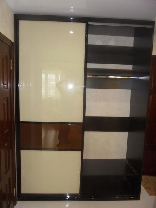 Встроенные шкафы-купе-Шкаф-купе из стекла Лакобель «Модель 60»-фото2