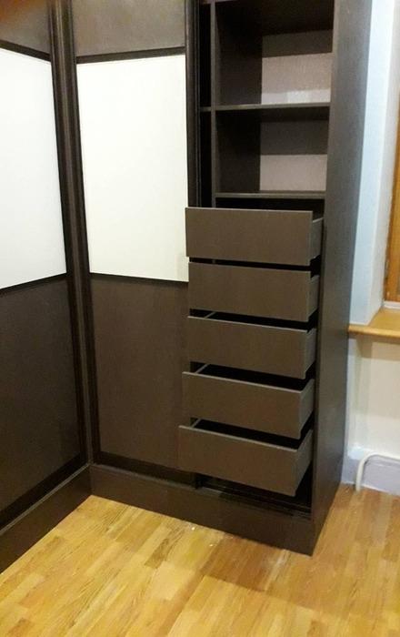 Встроенные шкафы-купе-Шкаф-купе из ЛДСП «Модель 86»-фото4