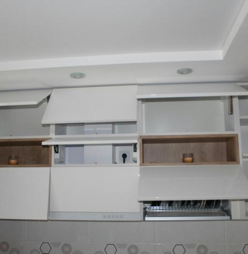 Белый кухонный гарнитур-Кухня из пластика «Модель 87»-фото8