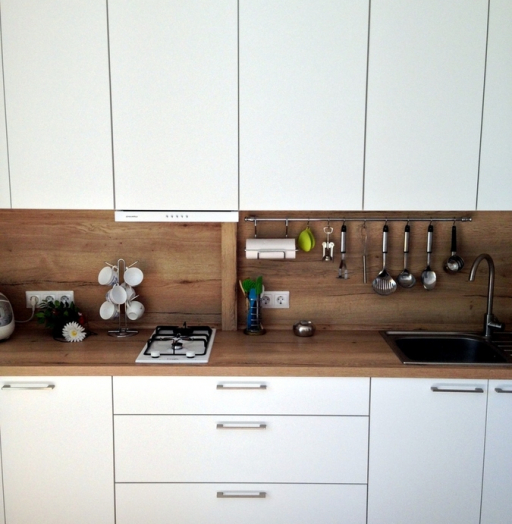 Белый кухонный гарнитур-Кухня МДФ в ПВХ «Модель 121»-фото5