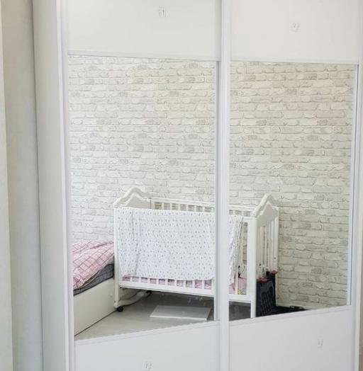 Белые шкафы-купе-Шкаф-купе с зеркалом «Модель 289»-фото2