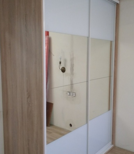 Белые шкафы-купе-Шкаф-купе с зеркалом «Модель 412»-фото5