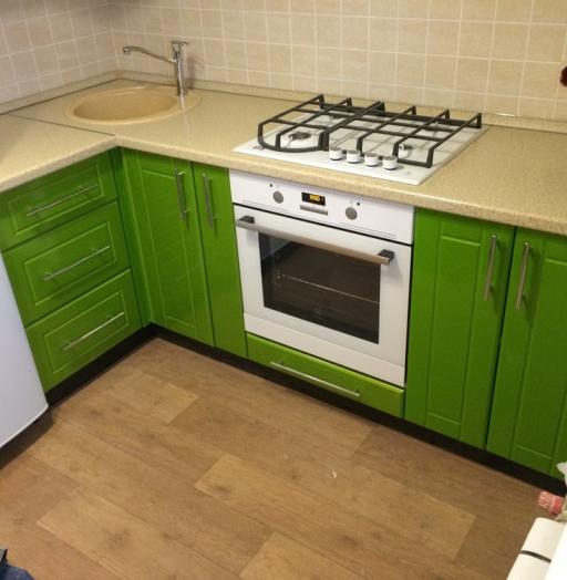 Встроенная кухня-Кухня МДФ в эмали «Модель 309»-фото6