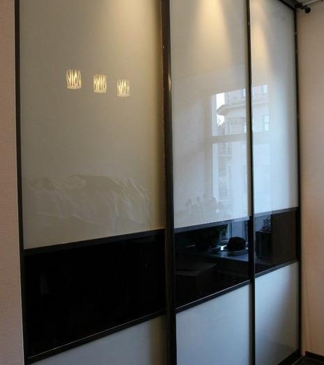 Большой шкаф-купе-Шкаф-купе из стекла Лакобель «Модель 84»-фото4