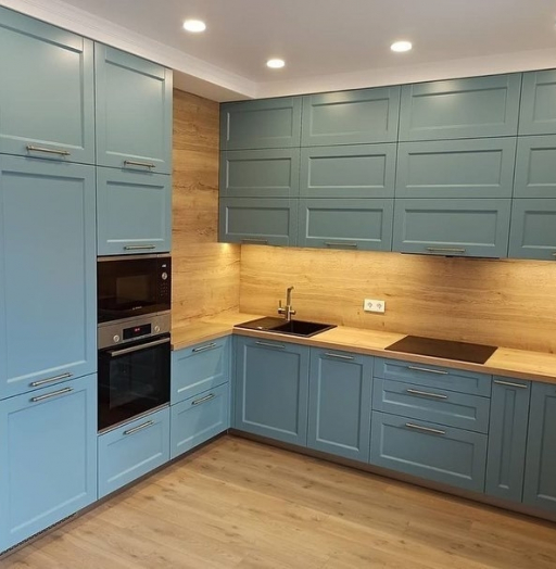 Классические кухни-Кухня МДФ в эмали «Модель 586»-фото8