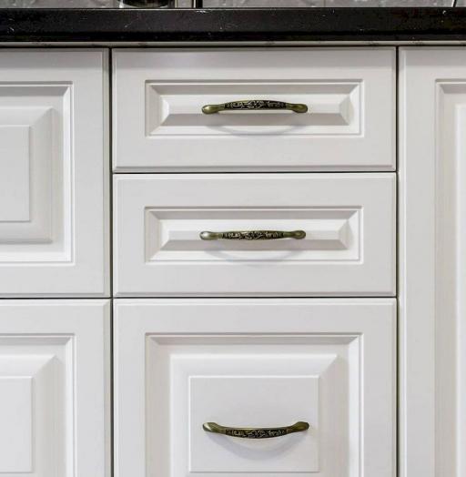 Белый кухонный гарнитур-Кухня МДФ в эмали «Модель 641»-фото9